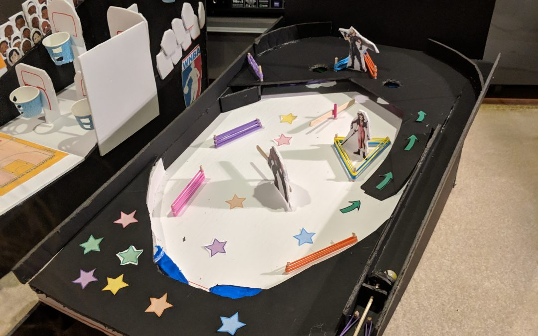 Foam board pinball game